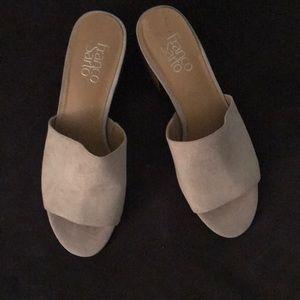 Franco Sarto Grey Suede Sandals